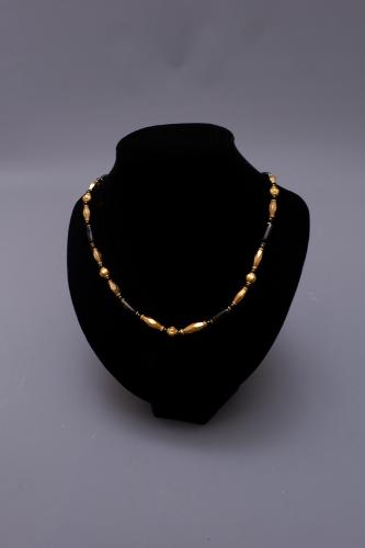 COLLIER OR ET ONYX