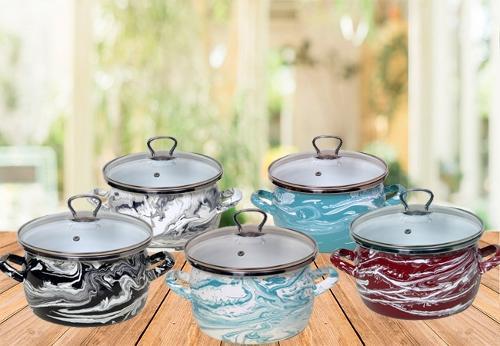 Посуда стальная эмалированная