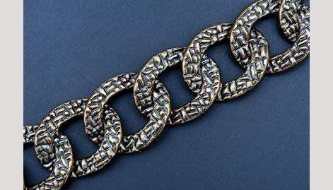 catena in lega metallica per settore bigiotteria