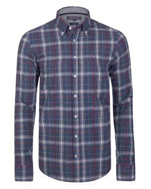 Tommy Hilfiger Classic Check Shirt, Navy/ White