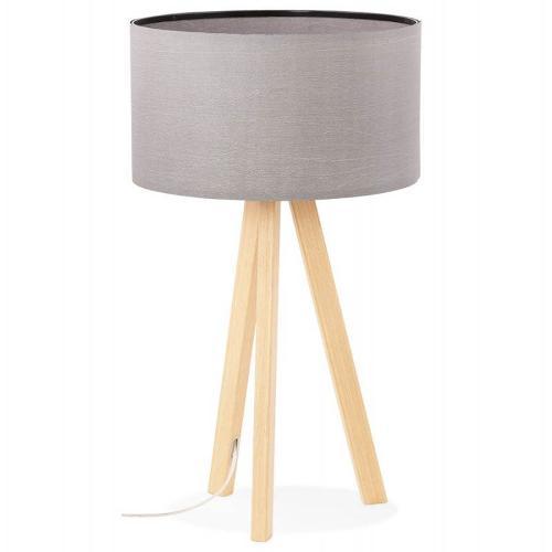 Lampe de table TRANI MINI sur trépied abat jour (gris)