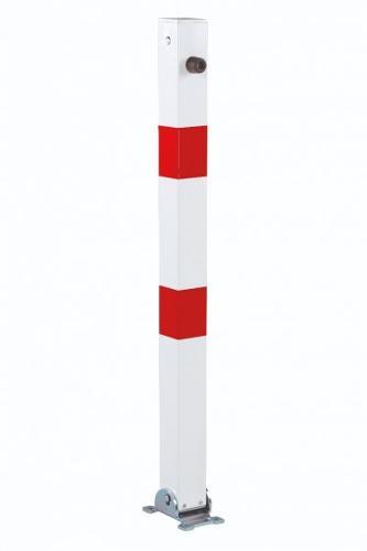 Poteau De Parking Rabattable 70x70, Fermeture Triangulaire