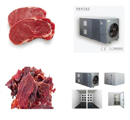 Meat and fish dehydrator machine