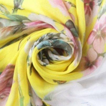 custom printed 100% silk chiffon fabric