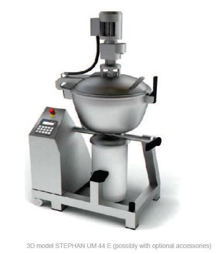 Cutter mélangeur broyeur chocolat ganache sous vide