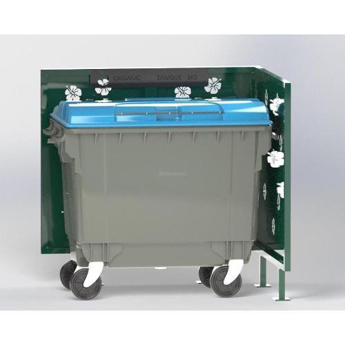 Cache Poubelle Conteneur Hibiscus En L Recyclage Organique