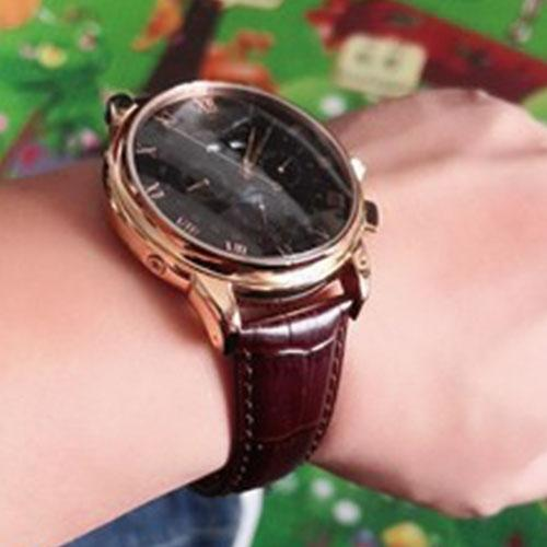 Patek Philippe Annual Calendar Style Alligator Leather Watch bands Collection