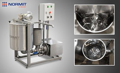 Processing mixer with homogenizer