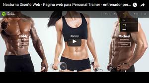 Página web personalizada para Personal Trainer o Gym