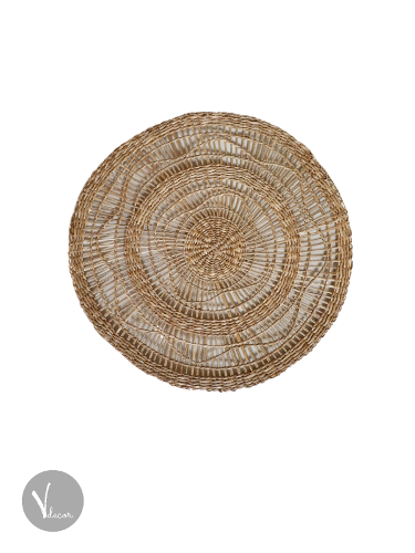 Handmade Round Natural Seagrass Placemat