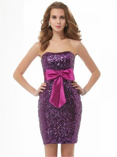 Sequins Short Evening Dresses