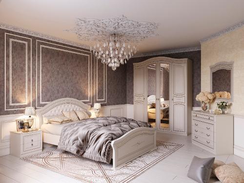 "Bedroom Set ""Nicole"" Pearl Ash"