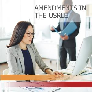 Amendments in the USRLE
