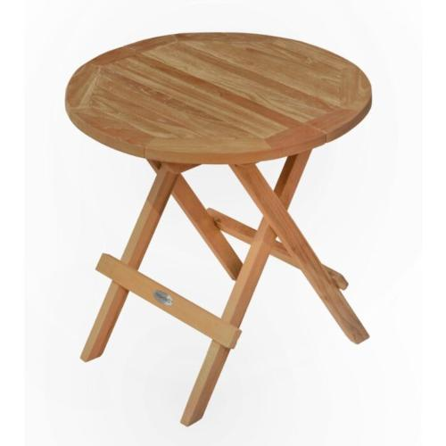 ronde klaptafel teak hout