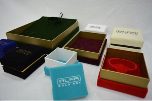 Suede Cloth Jewellery Boxes