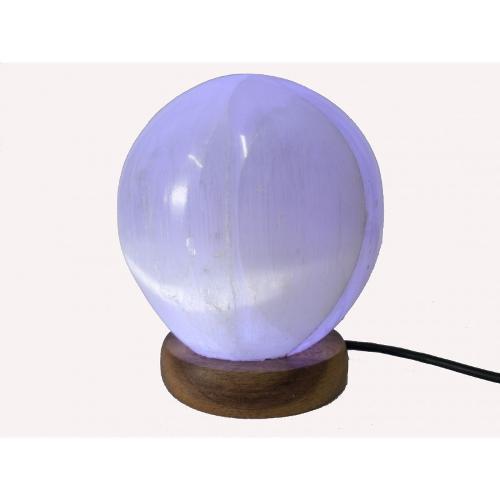 Lámpara Selenita Esfera Usb (cambia De Color) 10-12cm