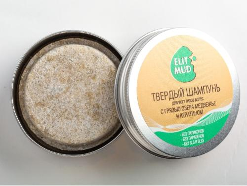 Solid Shampoo with Mineral Mud