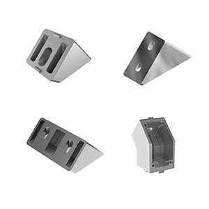 Angle Connector 45° for aluminiumprofile mounting