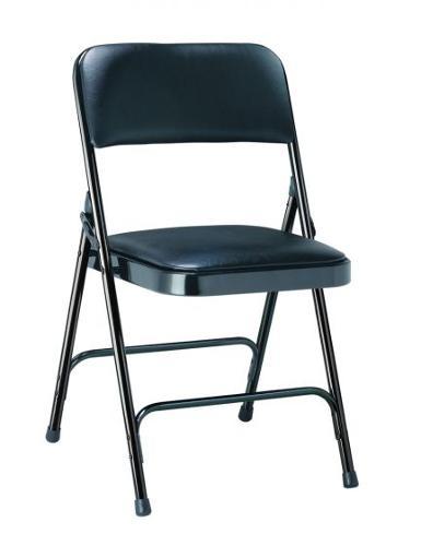 Chaise pliante métal et vinyle