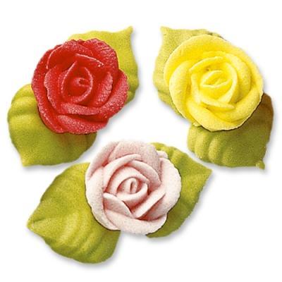 Günthart Tortendekoration - Rosen mit Blättern