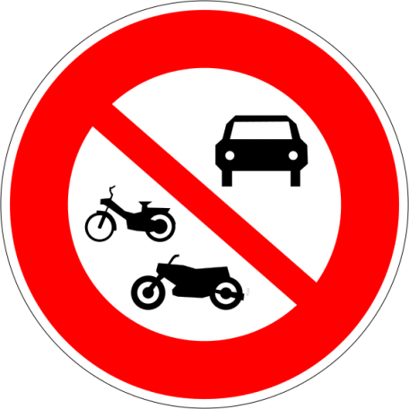 Panneaux B7a Et B7b Interdiction D'accès Aux Véhicules À Moteurs