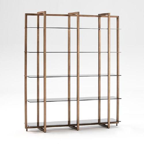 Regal 160x40x188 Rauchglas Bronze Metall - Regale Bildschirme