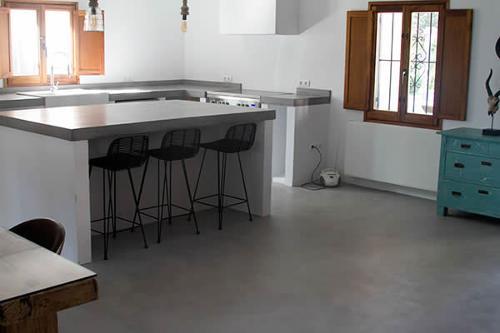 Kit 25 m2 de cemento pulido.