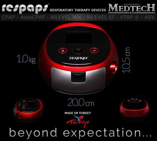 Respaps Bilevel (Bipap) with Embedded Humidifier
