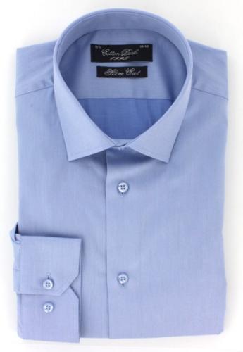 Chemise homme twill bleu ciel 100% coton