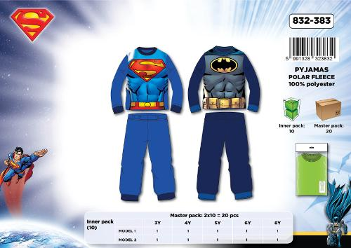 PYJAMA POLAIRE - SUPERMAN+ BATMAN