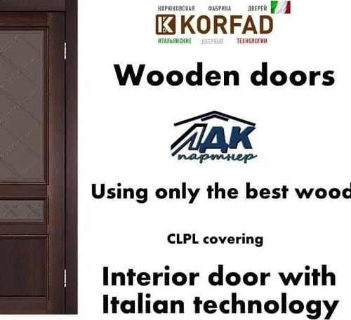 Made in Ukraine cheap interior solid wooden doors High quali