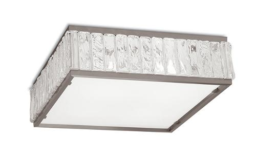 Art deco square glass ceiling light