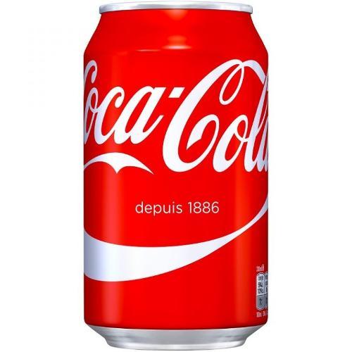 Canette coca cola français 33 cl par pack de 24