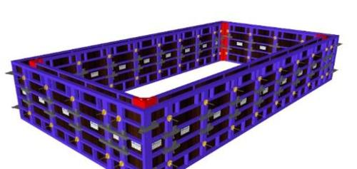 Modular formwork for reinforced concrete pools