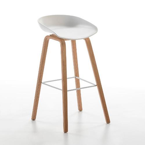 Hocker 50x46x83 Holz/metall/acryl Weiss - Bar Bar Stuhl Hocker