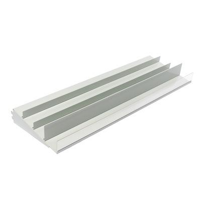 Steel supermarket shelves for display and store