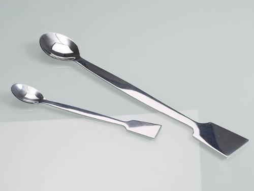 Cuillère avec spatule acier inoxydable