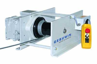 Electric operated worm gear winch
