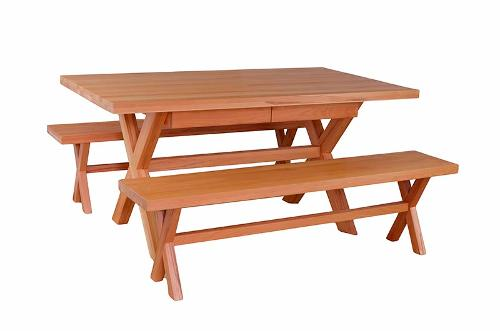 """Solid wood table """"Fister"""" with 2 drawers"""