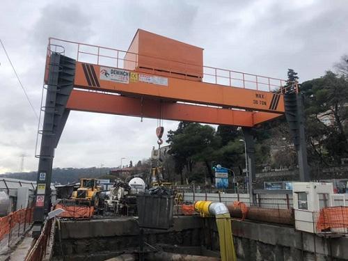 Gantry Crane For Metro Tunnel
