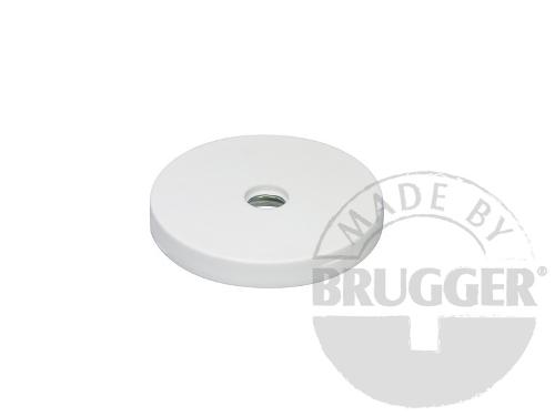 Magnet assembly, NdFeB, rubber coat white, with bore...