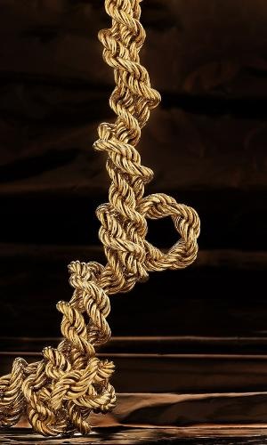 catene galvanizzate in oro