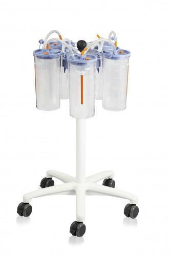 Rollstativ für Flüssigkeitsauffangsystem