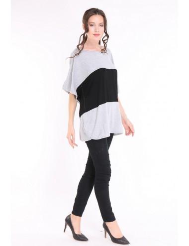 Pack 6x Tee-shirt femme TAPAULA noir/gris