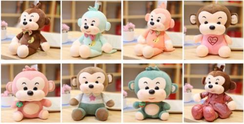 CE Audited OEM 12 Inch Super SOFT Plush Stuffed Monkey toy