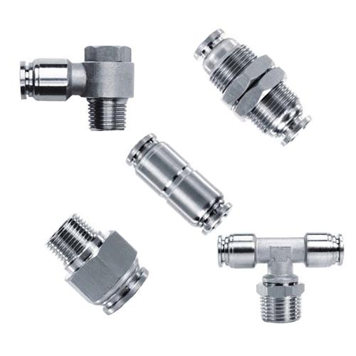 316 Stainless Steel Push in Fittings, Pneumatic Fittings