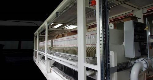 Filtro prensa semi-móvil