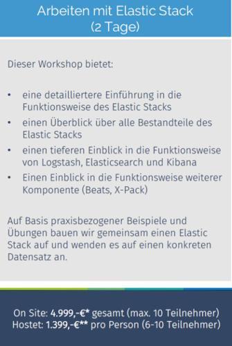 Schulung: Arbeiten mit Elastic Stack
