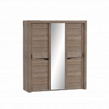 "3 Doors Wardrobe ""Sorento"" Stiling Oak With Sliding Doors"