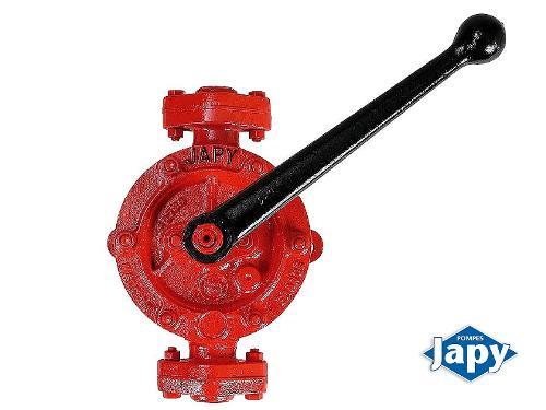 Unlined manual semi-rotary pump